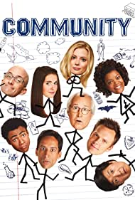 Chevy Chase, Ken Jeong, Joel McHale, Jim Rash, Yvette Nicole Brown, Alison Brie, Gillian Jacobs, Danny Pudi, and Donald Glover in Community (2009)