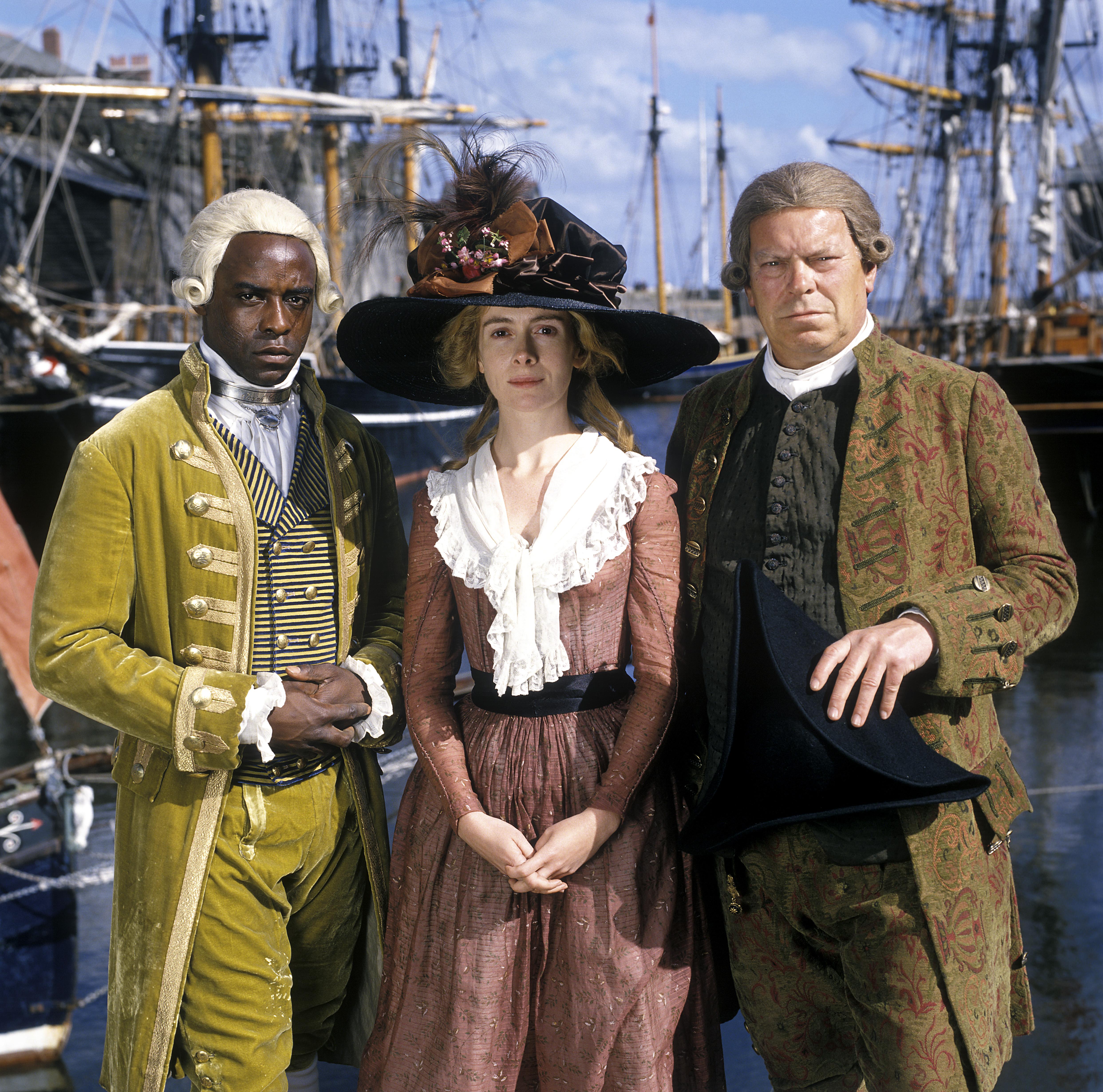Ariyon Bakare, Warren Clarke, and Emma Fielding in A Respectable Trade (1998)