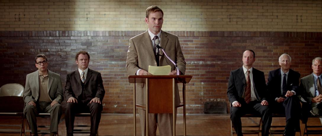 John C. Reilly, Gil Bellows, Seann William Scott, and Fred Armisen in The Promotion (2008)