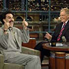 David Letterman and Sacha Baron Cohen in Late Show with David Letterman (1993)
