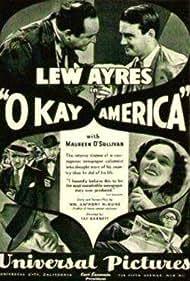 Lew Ayres, Maureen O'Sullivan, Edward Arnold, Louis Calhern, Marjorie Gateson, and Margaret Lindsay in Okay America! (1932)