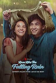 Jefri Nichol and Aurora Ribero in Seperti Hujan yang Jatuh ke Bumi (2020)