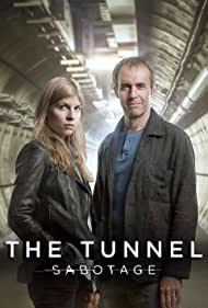 Stephen Dillane and Clémence Poésy in The Tunnel (2013)