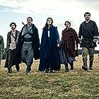 Rosamund Pike, Daniel Henney, Zoë Robins, Josha Stradowski, Madeleine Madden, Barney Harris, and Marcus Rutherford in The Wheel of Time (2021)
