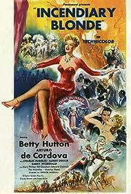 Betty Hutton and Arturo de Córdova in Incendiary Blonde (1945)