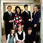Fran Drescher, Nicholle Tom, Daniel Davis, Lauren Lane, Benjamin Salisbury, Charles Shaughnessy, and Madeline Zima in The Nanny (1993)