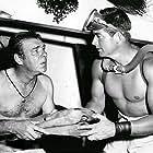 Lon Chaney Jr. and John Bromfield in Manfish (1956)