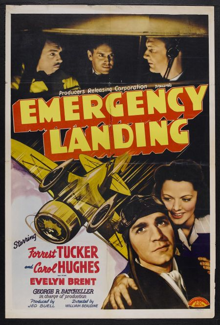 Jack Gardner, Carol Hughes, I. Stanford Jolley, and Forrest Tucker in Emergency Landing (1941)