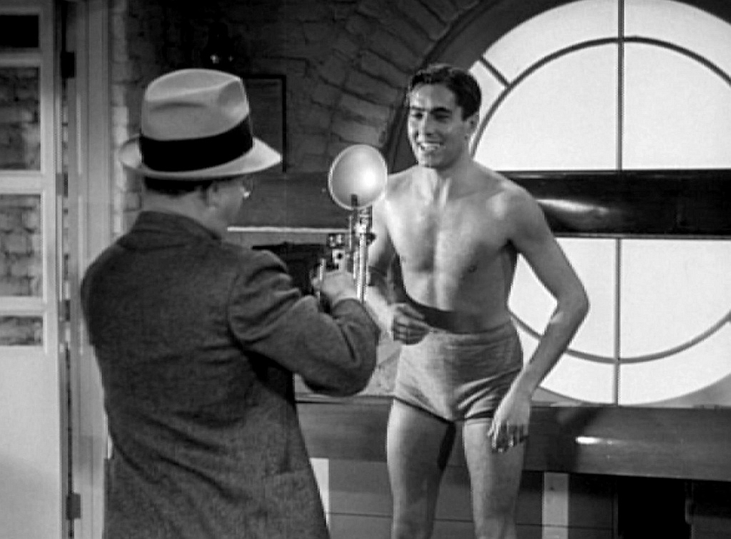 Tyrone Power and Charles Williams in Johnny Apollo (1940)