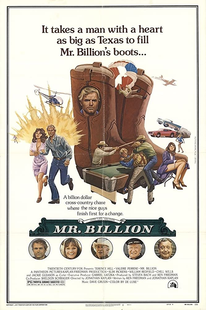 Jackie Gleason, Terence Hill, Slim Pickens, Valerie Perrine, and Chill Wills in Mr. Billion (1977)