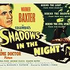 Nina Foch and Warner Baxter in Shadows in the Night (1944)