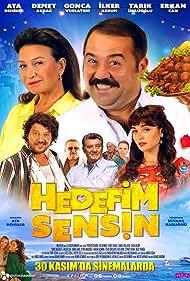 Demet Akbag, Erkan Can, Ata Demirer, Ilker Aksum, Tarik Ünlüoglu, and Gonca Vuslateri in Hedefim Sensin (2018)