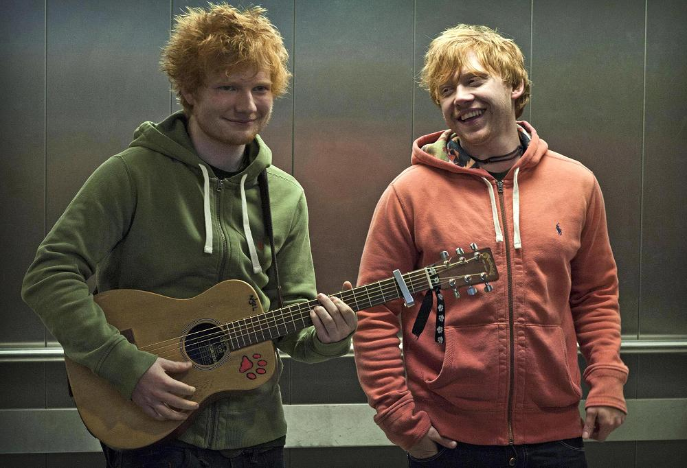 Image result for Ed Sheeran and Rupert Grint