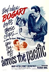 Humphrey Bogart, Mary Astor, and Roland Got in Across the Pacific (1942)