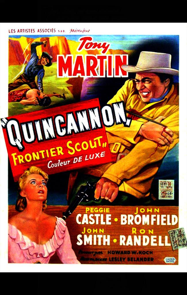 Peggie Castle and Tony Martin in Quincannon, Frontier Scout (1956)