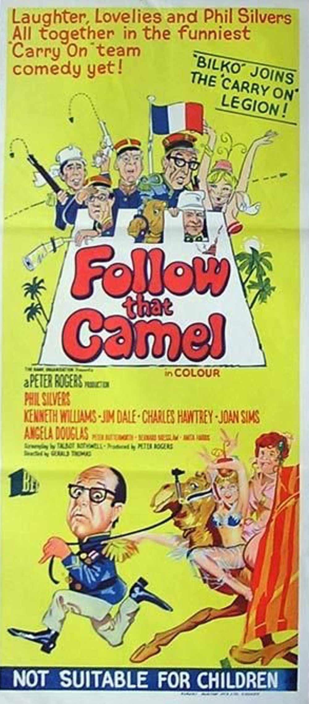 Ist ja irre - In der Wüste fließt kein Wasser: Directed by Gerald Thomas. With Phil Silvers, Kenneth Williams, Jim Dale, Charles Hawtrey. A bogus legionnaire proves his mettle during an Arab attack.