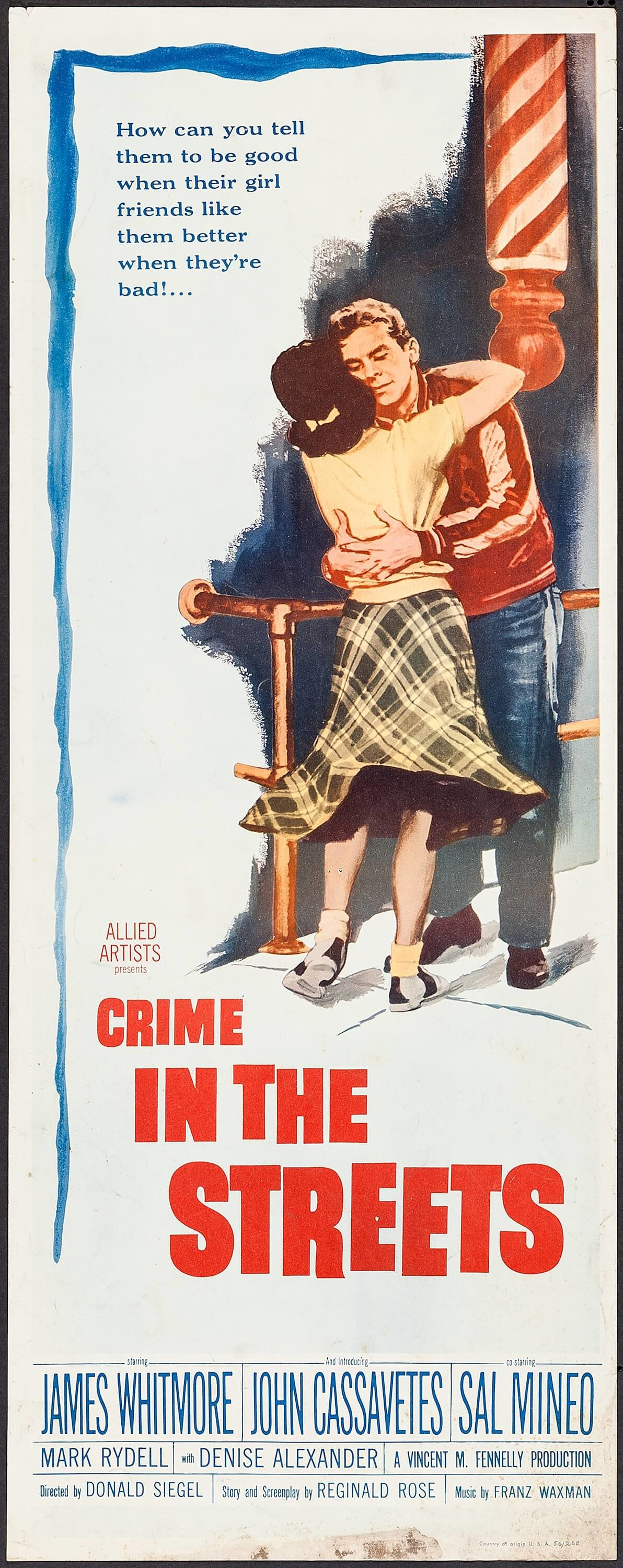 Denise Alexander and Mark Rydell in Crime in the Streets (1956)