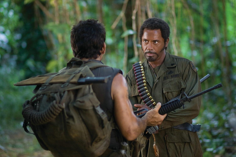 Robert Downey Jr. and Ben Stiller in Tropic Thunder (2008)