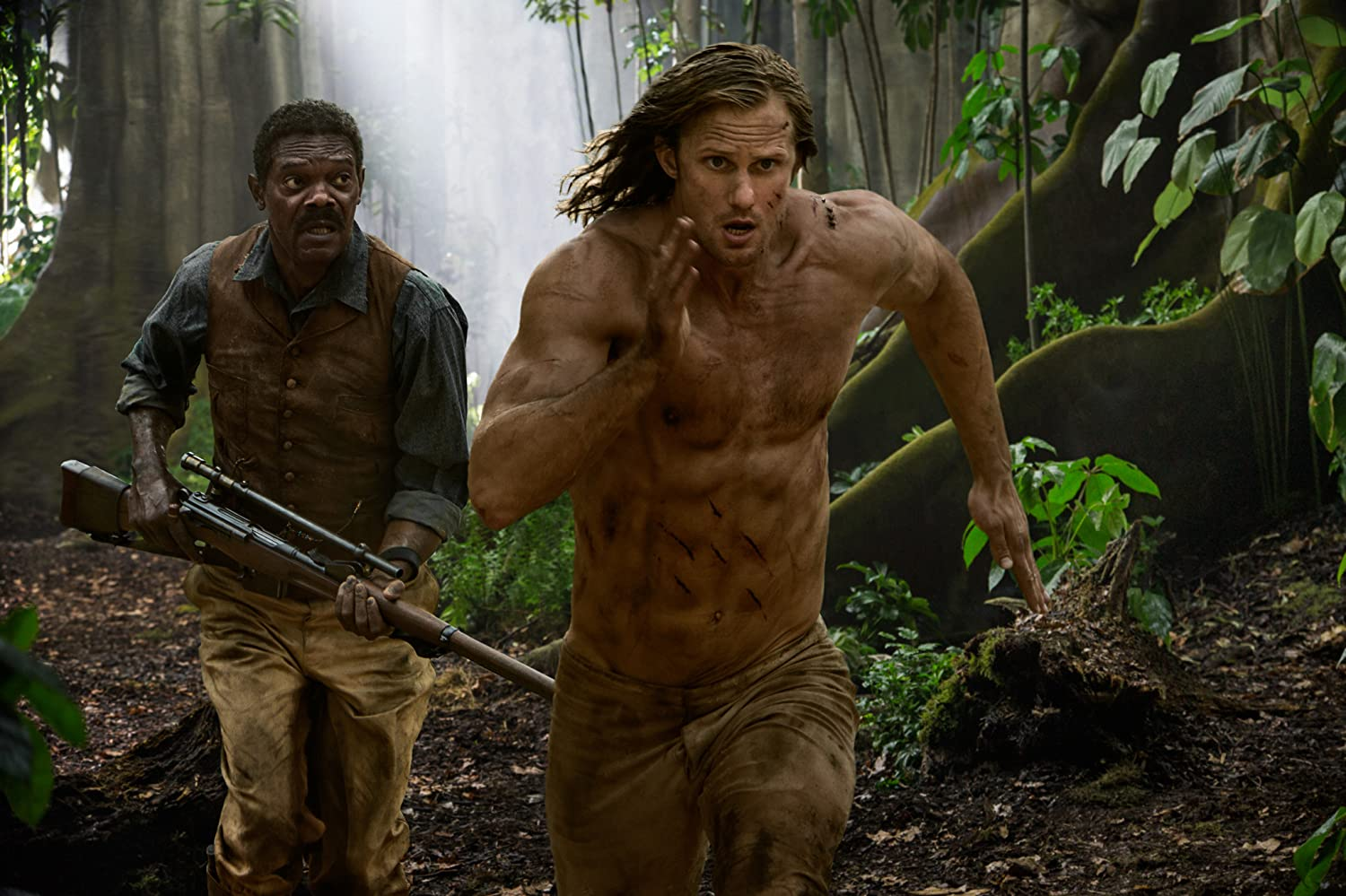Samuel L. Jackson and Alexander Skarsgård in The Legend of Tarzan (2016)