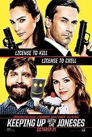 Isla Fisher, Zach Galifianakis, Jon Hamm, and Gal Gadot in Keeping Up with the Joneses (2016)