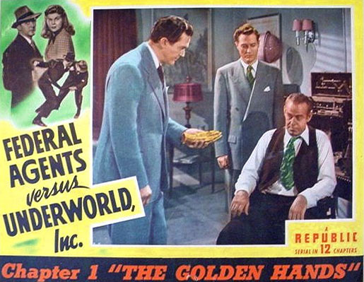 Kirk Alyn, Roy Barcroft, Rosemary La Planche, and James Dale in Federal Agents vs. Underworld, Inc. (1949)