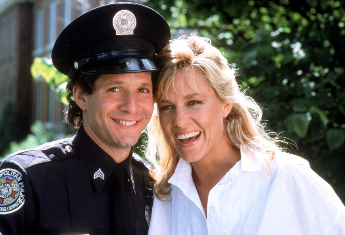 Steve Guttenberg And Shawn Weatherly In Police Academy 3 Back In Training 1986
