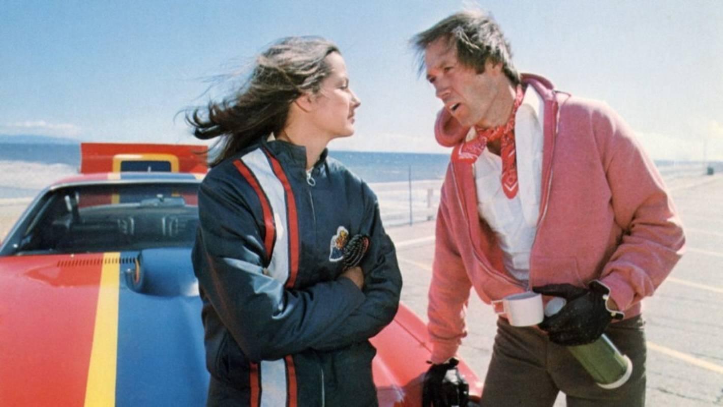 David Carradine and Veronica Hamel in Cannonball (1976)