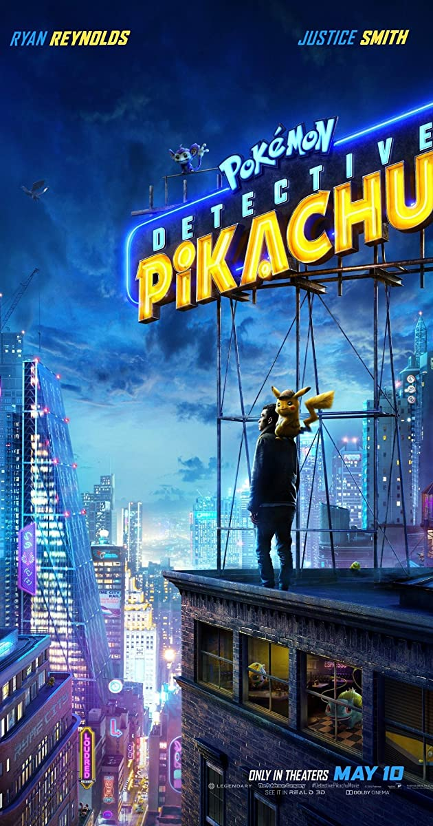 Pokémon Detective Pikachu (2019) 720p Bluray Dual Audio [Hindi DD 5.1 - English] h264 ESubs ~RONIN~