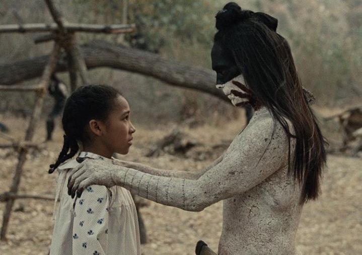 Zahn McClarnon and Jasmyn Rae in Westworld (2016)