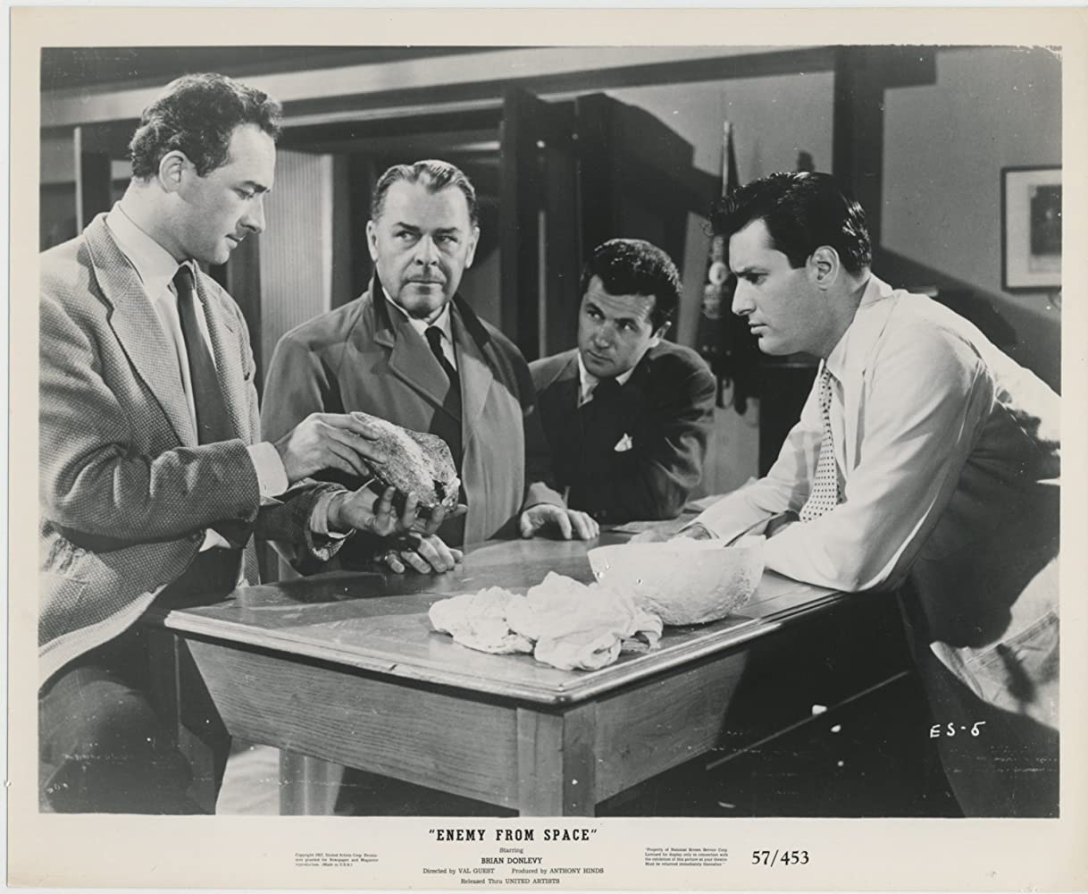 Brian Donlevy, Phillip Baird, Bryan Forbes, and William Franklyn in Quatermass 2 (1957)