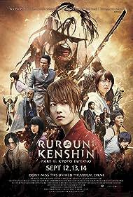 Tatsuya Fujiwara, Takeru Satoh, and Emi Takei in Rurôni Kenshin: Kyôto taika-hen (2014)