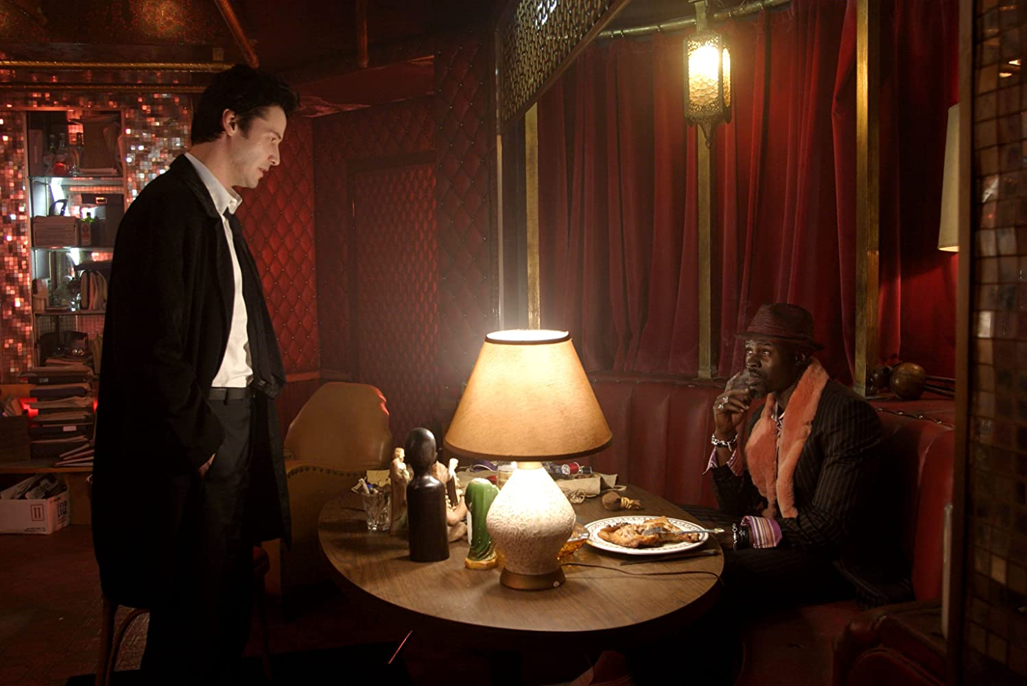 Keanu Reeves and Djimon Hounsou in Constantine (2005)
