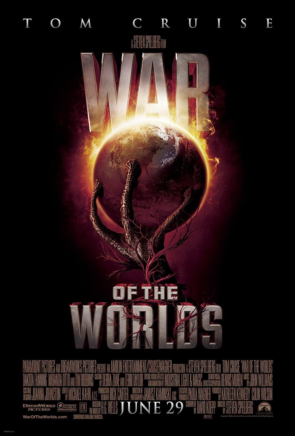 Krieg der Welten: Directed by Steven Spielberg. With Tom Cruise, Dakota Fanning, Miranda Otto, Justin Chatwin. An updated version of H.G Wells