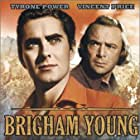 Tyrone Power and Dean Jagger in Brigham Young (1940)