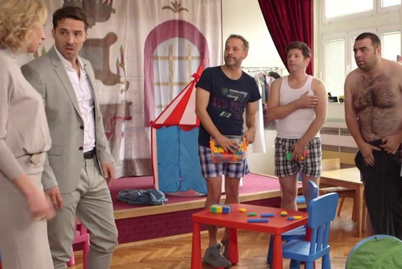 Ljubinka Klaric, Andrej Sepetkovski, Filip Juricic, Miljan Prljeta, and Branko Jankovic in Tate (2020)
