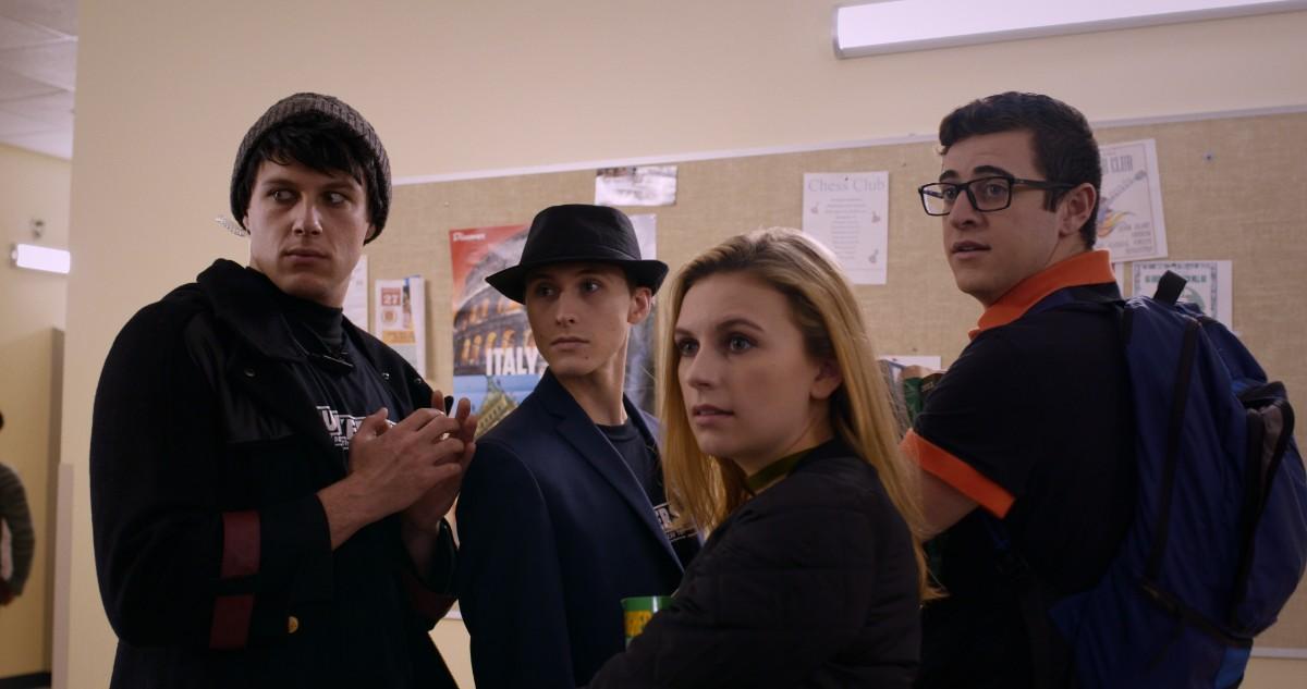 Snake, Link, Sheik, and Doc get startled at school in 'Debunkers, Inc.'