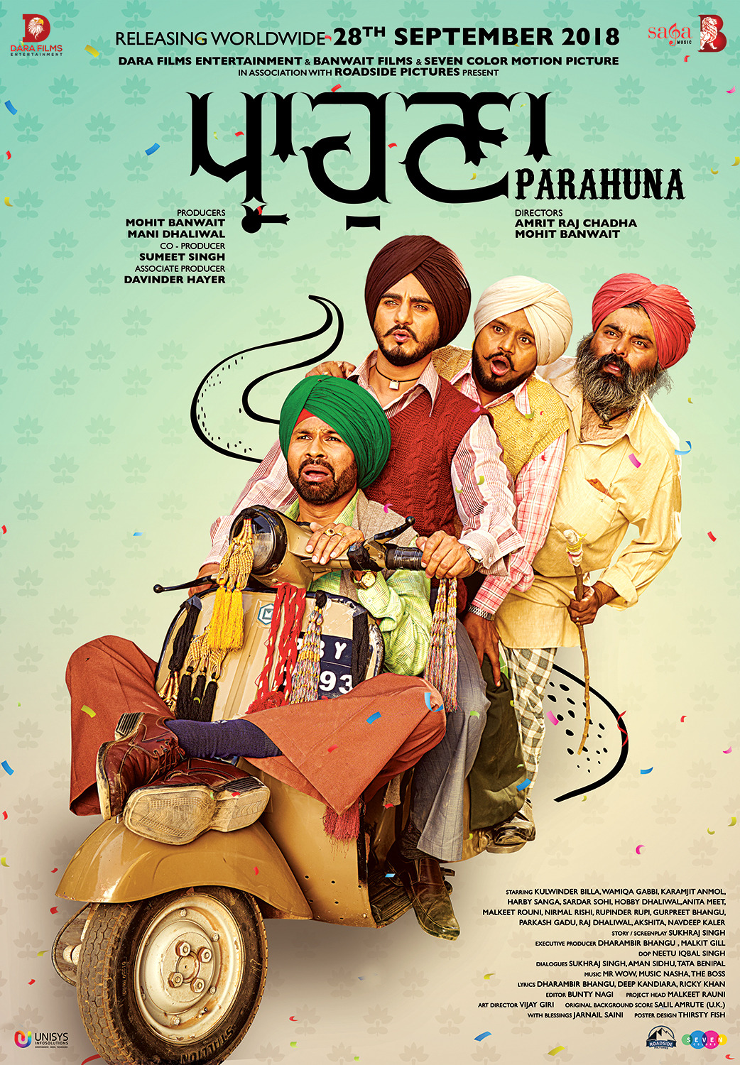 Parahuna (2018) Punjabi Movie 720p HDRip x264 ESubs 950MB