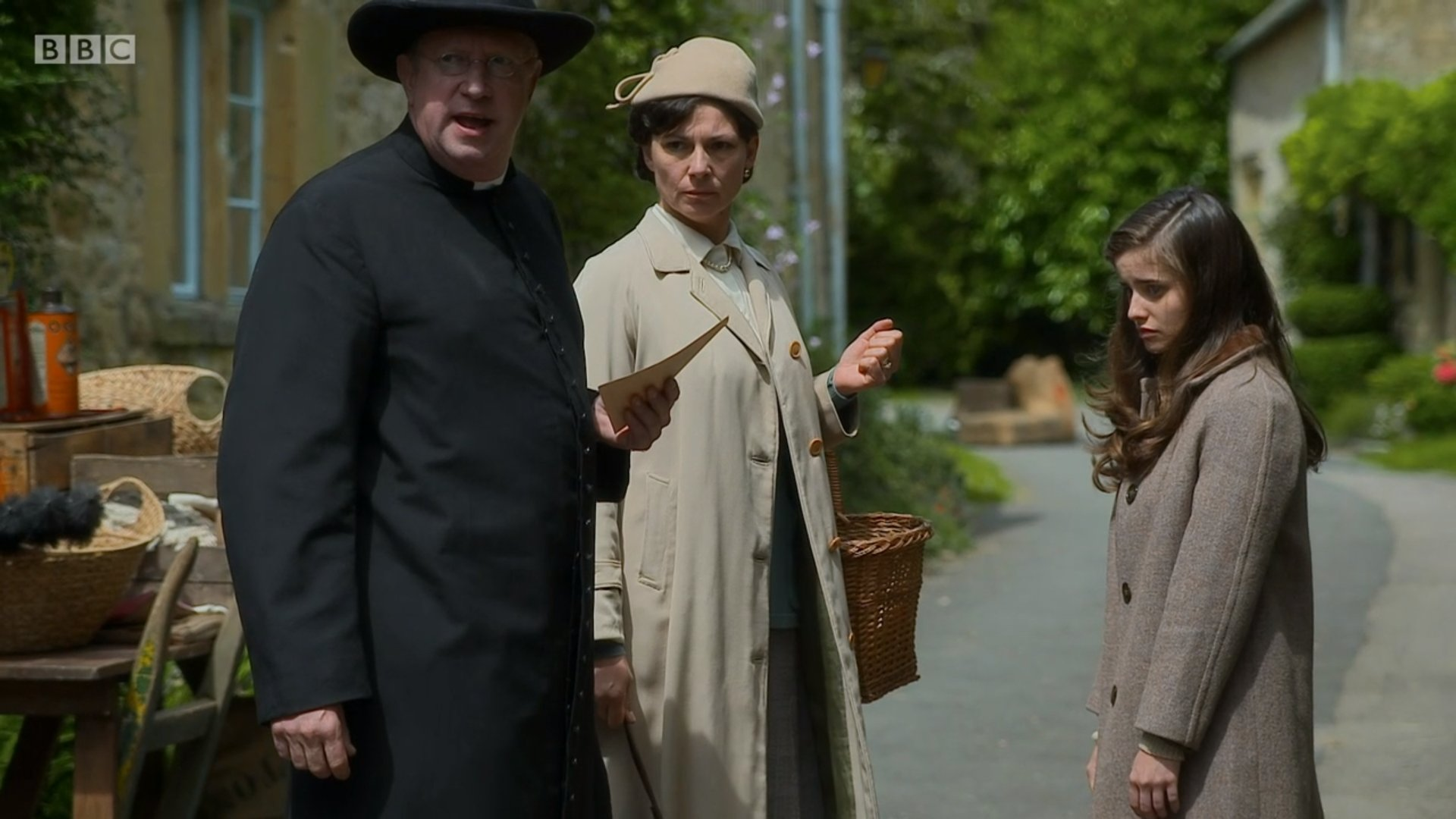 Holly Earl, Stirling Gallacher, and Mark Williams in Father Brown (2013)