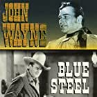 John Wayne, George Cleveland, and George 'Gabby' Hayes in Blue Steel (1934)