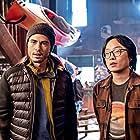 Jimmy O. Yang and Darren Barnet in Love Hard (2021)