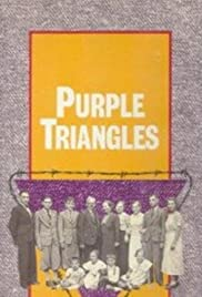 Purple Triangles Poster
