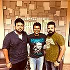 Puneeth Rajkumar, S. Thaman, and Santhosh Ananddram in Yuvarathnaa (2021)