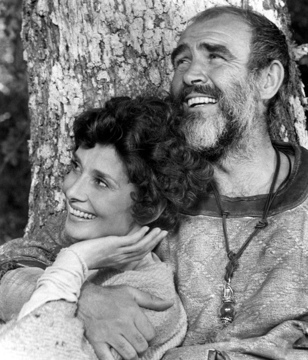 Audrey Hepburn and Sean Connery in Robin and Marian (1976)