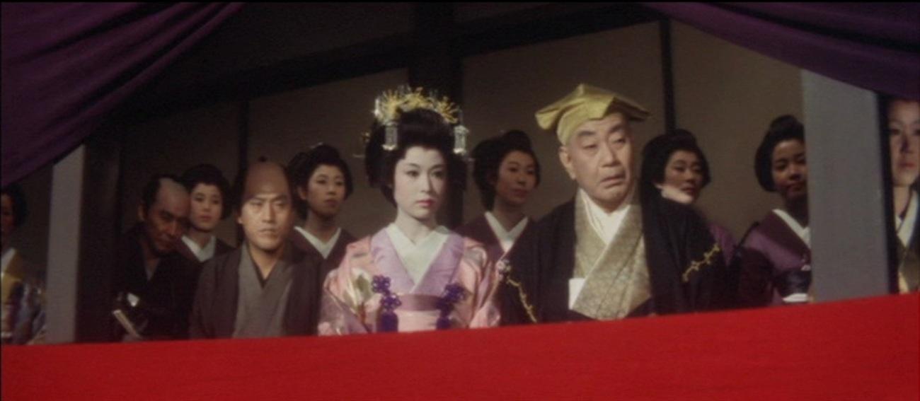 Saburô Date, Ganjirô Nakamura, and Ayako Wakao in Yukinojô henge (1963)