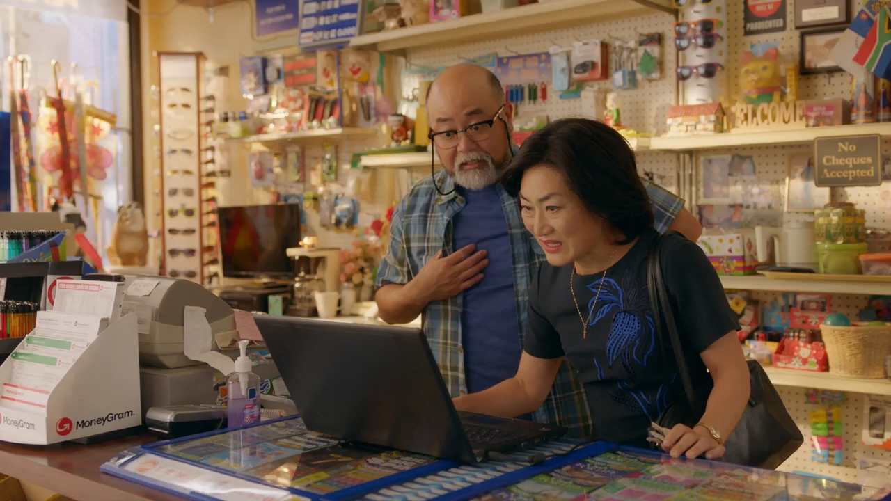 Paul Sun-Hyung Lee and Jean Yoon in Kim's Convenience (2016)