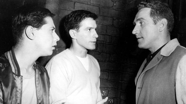 John Cassavetes, Mark Rydell, and James Whitmore in Crime in the Streets (1956)