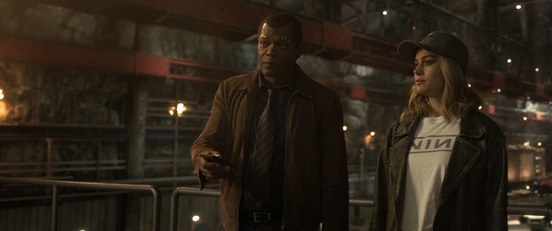 Samuel L. Jackson and Brie Larson in Captain Marvel (2019)