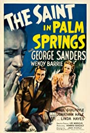 The Saint in Palm Springs Poster