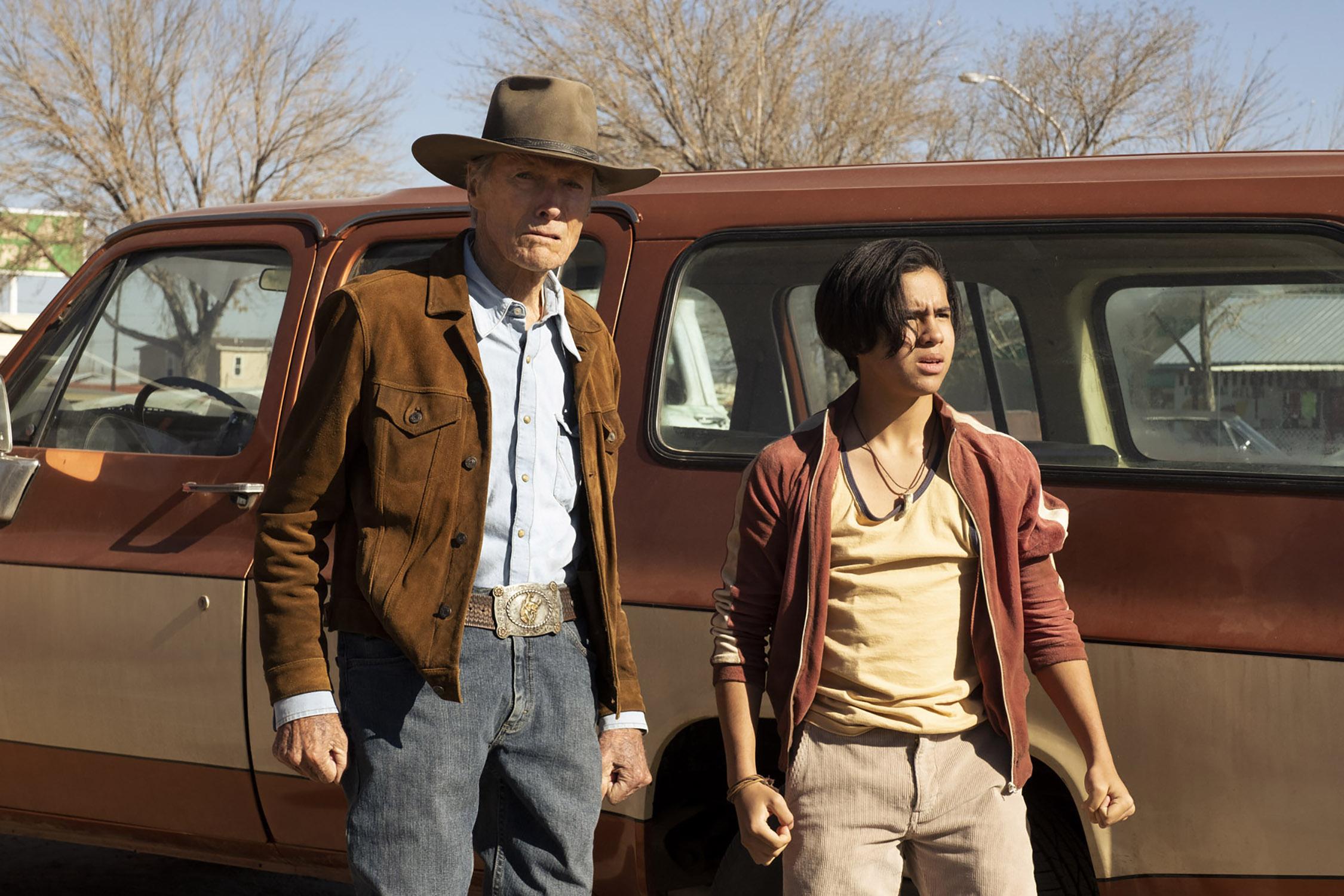 Clint Eastwood and Eduardo Minett in Cry Macho (2021)
