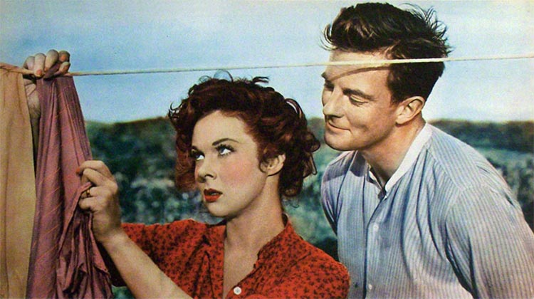 Susan Hayward and William Lundigan in I'd Climb the Highest Mountain (1951)